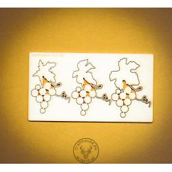 WINOGRONKA RÓŹNE 3 SZT.   FLO-053