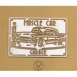 TABLICZKA MUSCLE CAR GARAGE VINTAGE IN-0126