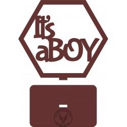 """Plaster miodu """"IT'S A BOY"""" na podstawce SKL-0661"""