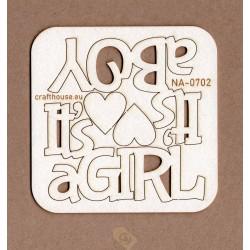 NAPISY IT'S A BOY IT'S A GIRL NA-0702