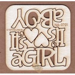 NAPISY IT'S A BOY IT'S A GIRL MAŁE NA-0701
