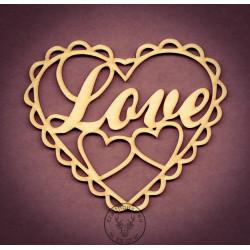 SERCE Z NAPISEM LOVE LO-007
